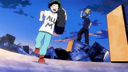 Midoriya Training Izuku Hero Boku Academia Anime
