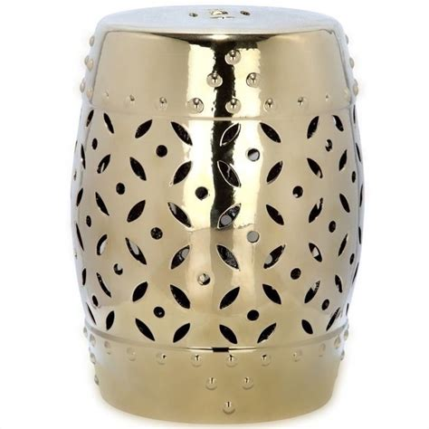 safavieh garden stool safavieh lattice coin ceramic garden stool in gold acs4510d