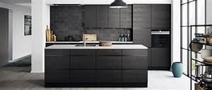 Cuisine Blanche Et Noire : cuisine noir le blog des cuisines ~ Nature-et-papiers.com Idées de Décoration