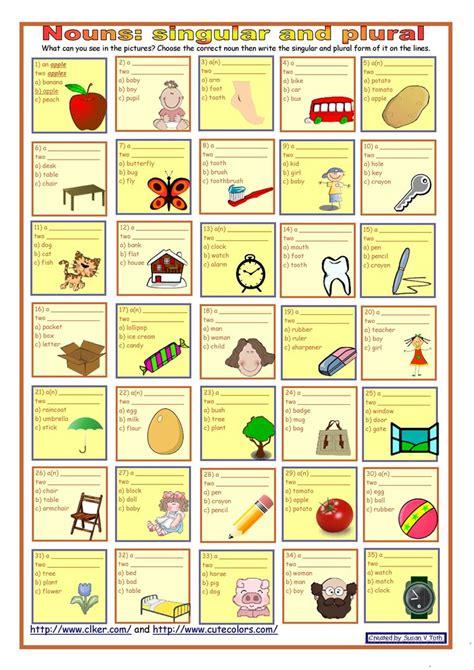 worksheet singular and plural nouns worksheets grass