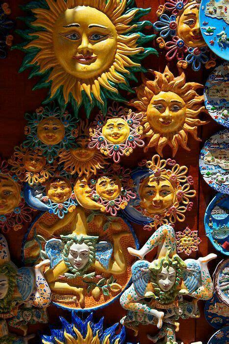 Keramiek zon | Pottery sun, Moon art, Ceramic sun