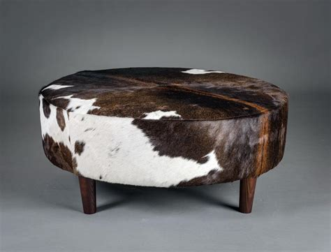 Cowhide Footstool by Cowhide Ottoman Usa Cow Skin Furniture Usa Footstool