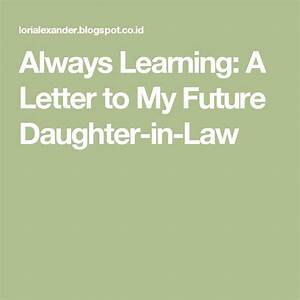 17 best ideas about daughter in law on pinterest nice With letter to daughter in law