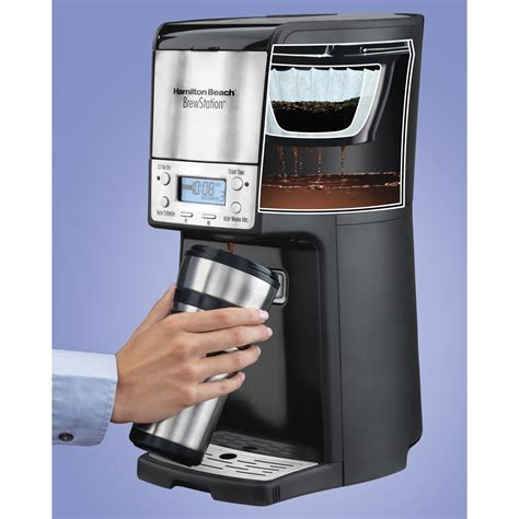 This affordable machine has a lot of amazing features that can meet the specific needs of various types of people. Hamilton Beach 12 Cup Brewstation Coffeemaker & Reviews | Wayfair