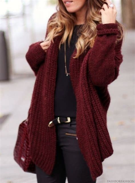 burgundy sweater womens maroon cardigan black