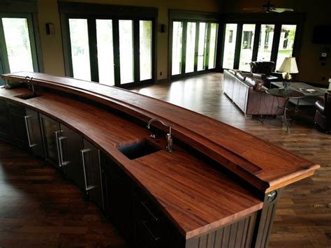 devos woodworking mesquite bar top  texas traditional