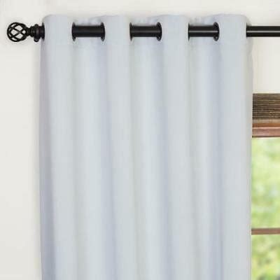 factory bargain drapes 54 x 84 in silver blackout curtain grommet style factory