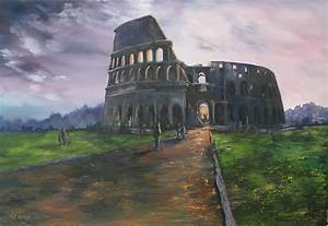 Coliseum Rome Painting by Jean Walker