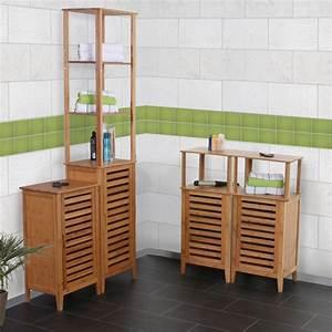 Badregal Mit Wäschekorb : badschrank bambus kreative ideen f r design und wohnm bel ~ Whattoseeinmadrid.com Haus und Dekorationen