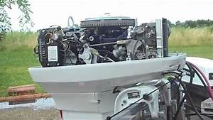 1973 Johnson 50hp Outboard  Beautifully Restored