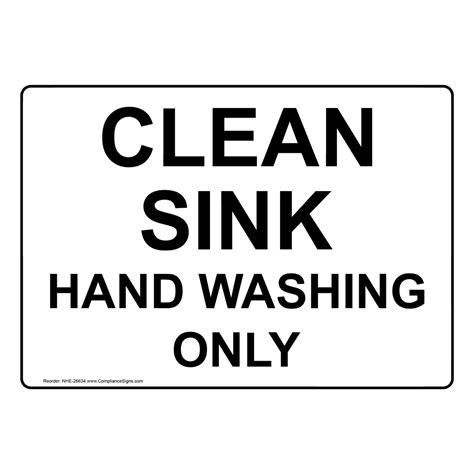kitchen sink washing aid 9 letters clean sink washing only sign nhe 26634 washing