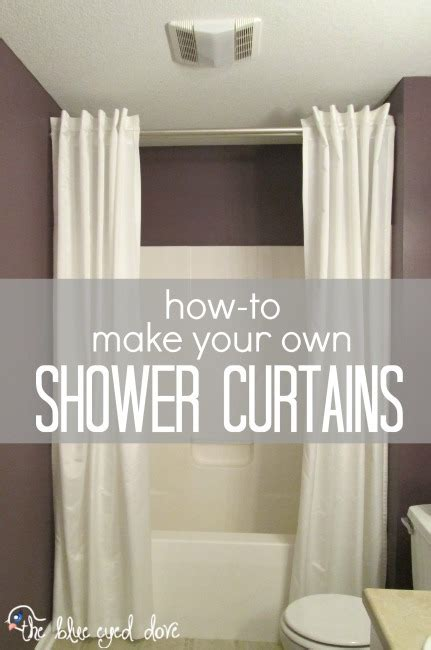 how to make your own shower curtains the blue eyed dove