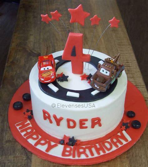 cars birthday cake complete  lightning mcqueen