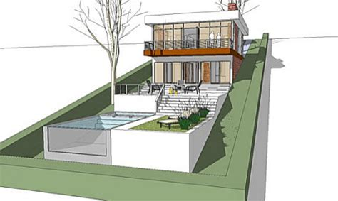 house plans for sloped lots the architectmodern house plan for a land with a big
