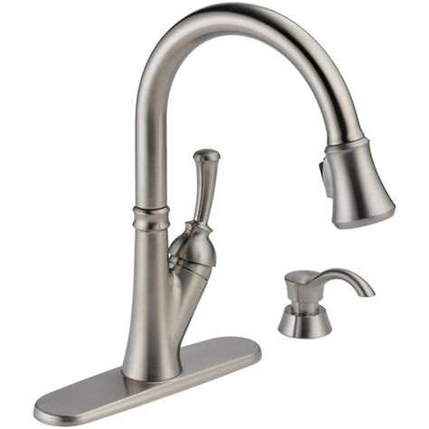 delta savile stainless 1 handle pull kitchen faucet 153 best images about kitchen inspiration on painted cottage plate racks and