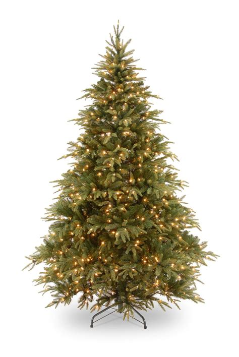 7ft pre lit weeping spruce feel real artificial christmas