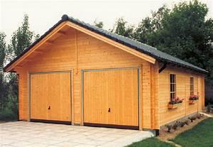 Garage Aus Holz : carport und garage aus blockbohlen ginster kaufen ~ Frokenaadalensverden.com Haus und Dekorationen