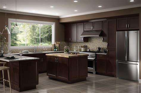 10x10 kitchen cabinets under 1000 all wood rta 10x10 luxor espresso shaker kitchen cabinets