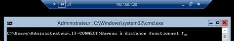 activer bureau a distance windows 7 server activer le bureau à distance it connect