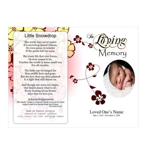 baby funeral program