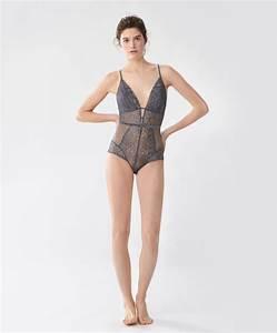 body dentelle bretelles gris bodies dernieres With derniere tendance mode femme