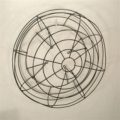 Vintage Industrial Wall Art Round Wire Fan Cage