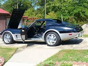 1976 Black  U0026 Silver Corvette Stingray  Manual Rwd  Coupe