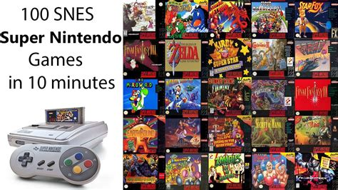 100 Snes Super Nintendo Games In 10 Minutes Remind Your