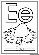 Coloring Alphabet Egg Pages Letter Printable Letters sketch template