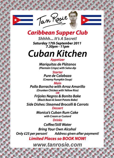 In The Kitchen With Rosie by Supper Club 2011 Menus Tan Rosie Caribbean Food Blog