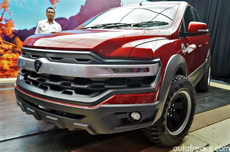 proton pickup truck concept unveiled at alami proton