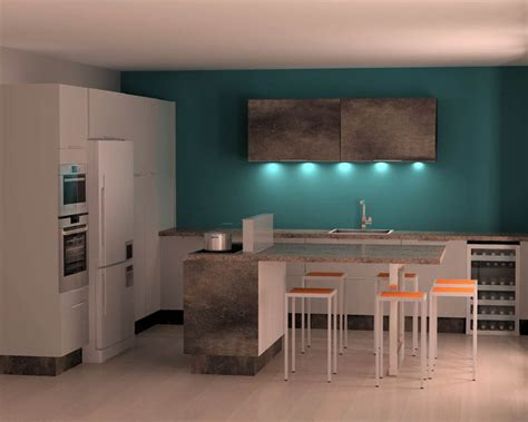 cuisine mur bleu mur bleu ptrole best salon murs bleu petrole gallery payn
