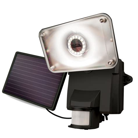 maxsa 44641 solar powered led security flood light