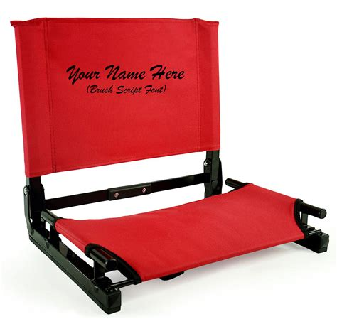 stadium chairs for bleachers personalized embroidered personalized new stadium chair gamechanger