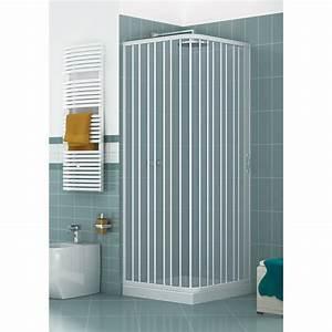 cabine de douche angulaire a deux cotes en pvc a porte With porte douche pvc
