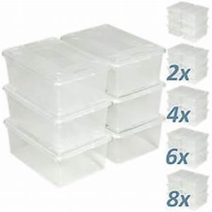 Kunststoffbox Mit Deckel 100 L : aufbewahrungsboxen aus kunststoff f r wohnbereich g nstig kaufen ebay ~ One.caynefoto.club Haus und Dekorationen