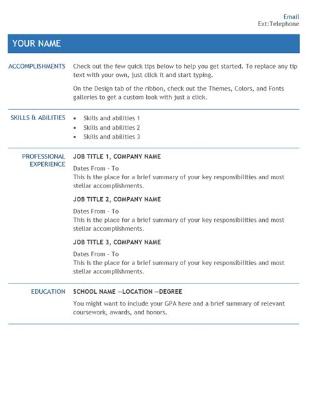 Company Resume Template by Resume For Company Transfer