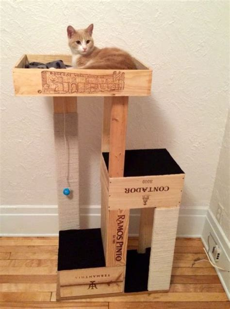 cat tree condo with hammock 40 cool diy cat tree condos or cat climbers