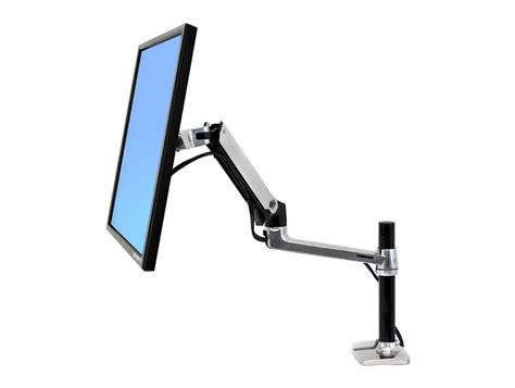 monitor arms desk mount ergotron lx pole desk mount lcd monitor arm