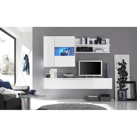 meuble vitrine blanc laque vitrine suspendue blanc ou noir design