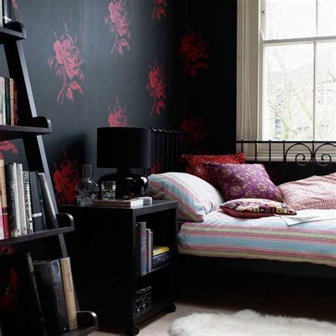 Black And Bedroom Ideas by Bedroom With Black Wallpaper Bedroom Wallpapers