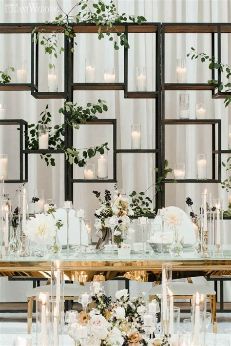 Modern Black And White Wedding Dinner Parties