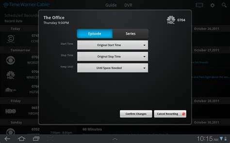 live tv app for android time warner cable tablet app now available for android