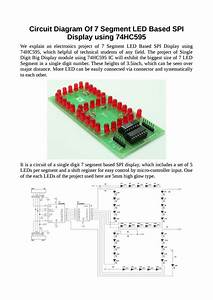 Circuit Diagram Of 7 Segment Led Based Spi Display Using