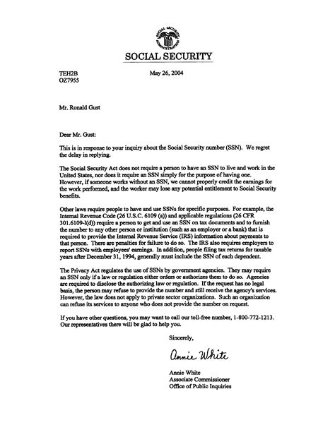 social security letter social security letter crna cover letter