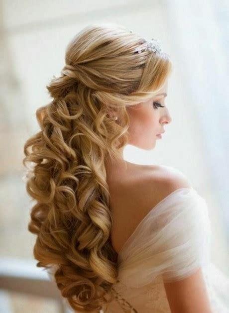 haare halb hochgesteckt brautfrisuren lange haare halb hochgesteckt