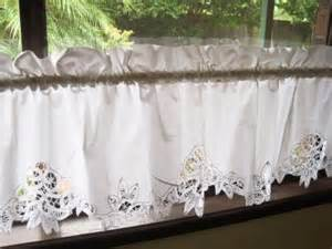 elegant white hand batten lace cotton caf 233 curtain trim ebay