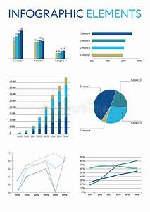 Set Of Color Infographic Elements  Vector Diagrams And