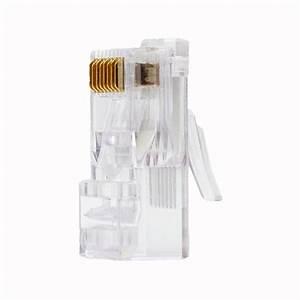 Cat6 Rj45 Crimp Connectors  Solid  Stranded  100 Pcs
