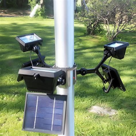 commercial solar flood light flagpole light greenlytes